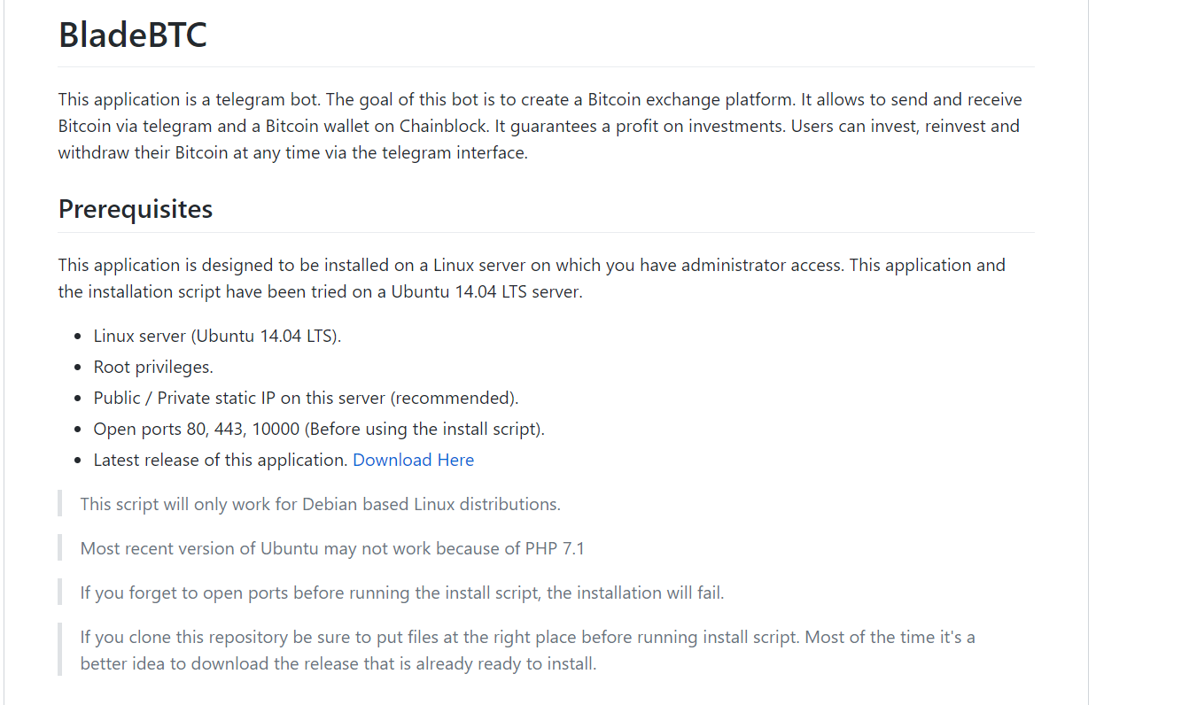 install BLADE BTC BOT script on my server telegram bot - CodeClerks
