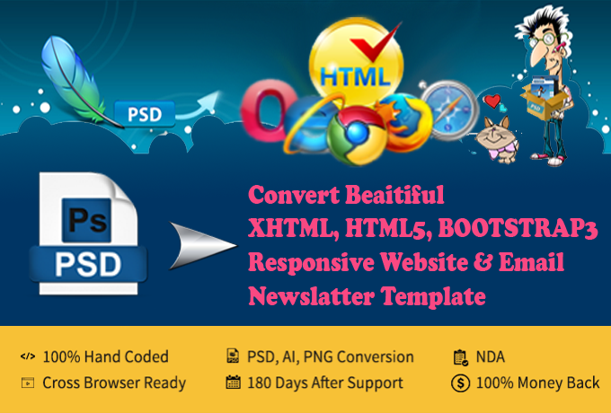Convert Psd to Responsive html5